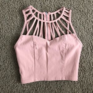 Cut-Out Crop Top
